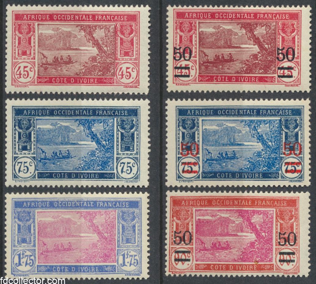 cote-ivoire-afrique-occidentale-francaise-1934-1935