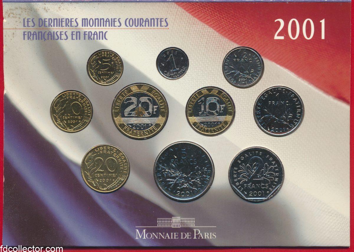 dernieres-monnaies-courantes-franc-2001-brillant-universel-paris-2