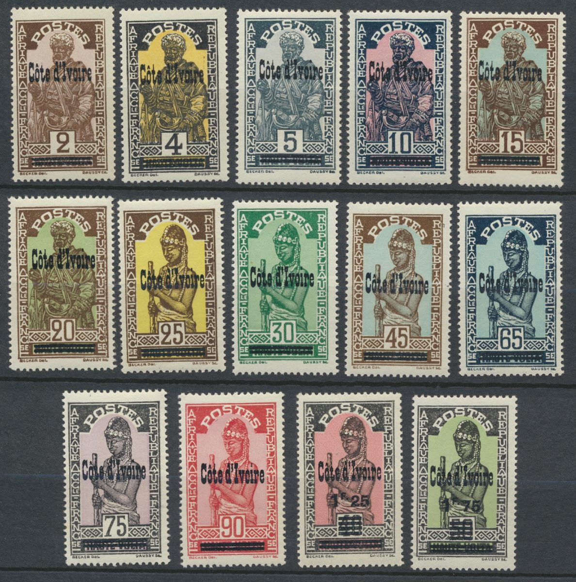 lot-timbres-cote-ivoire-ivory-coast