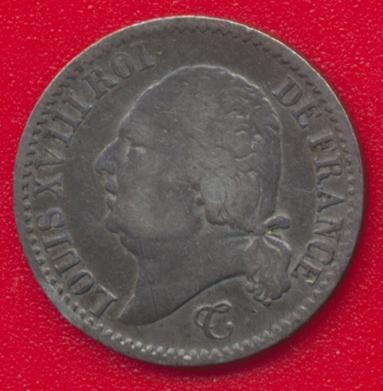 louis-xviii-1817-b-rouen-quart-franc-vs