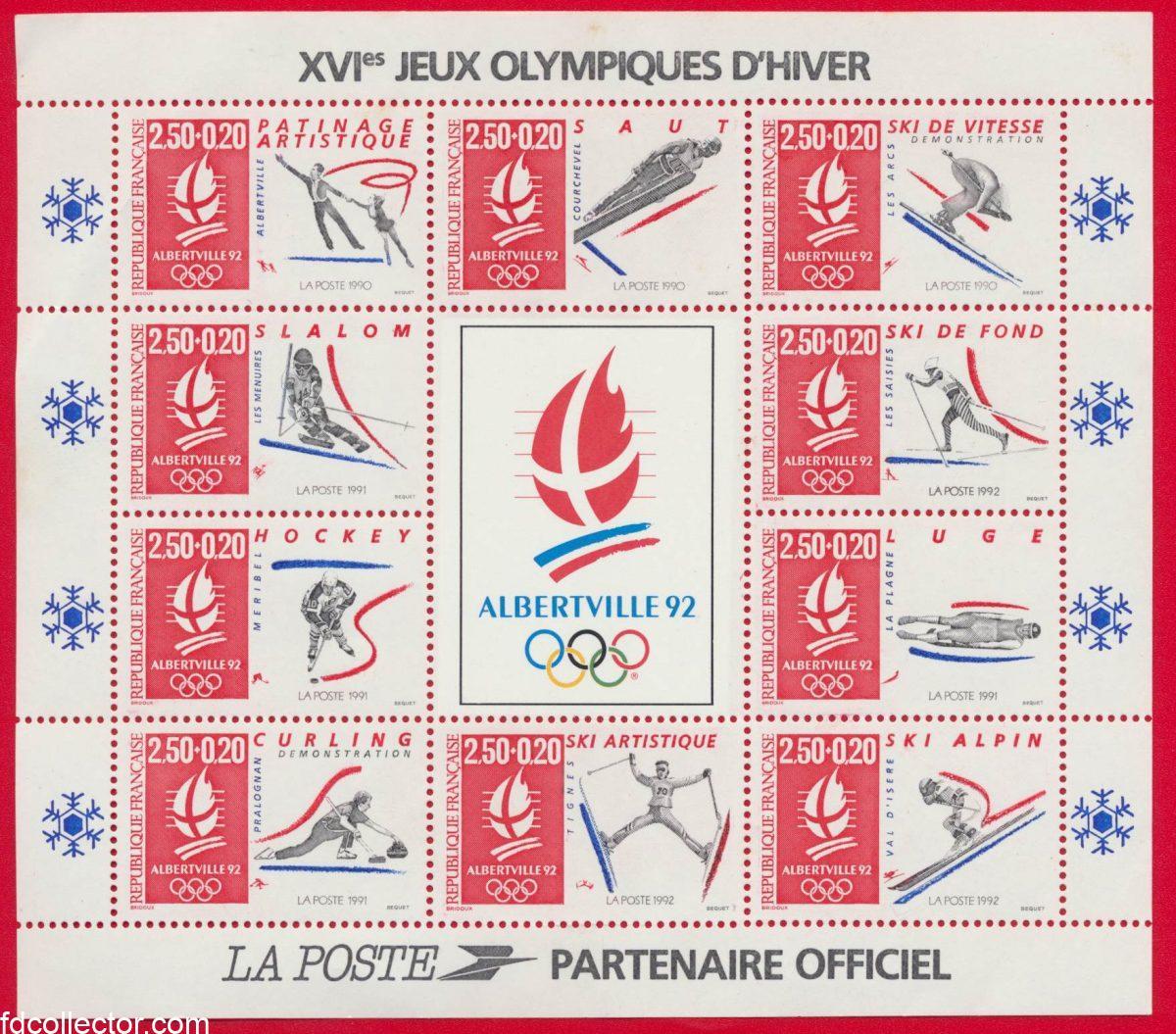 plaquette-xvi-jeux-olympiques-hiver-albertville-1992