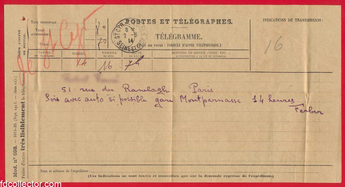 telegramme-1914-saint-cyr-seine-oise