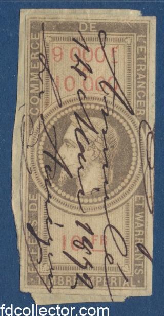timbres-fiscaux-fiscal-napoleon-9000-10000-10-francs-effets-commerce