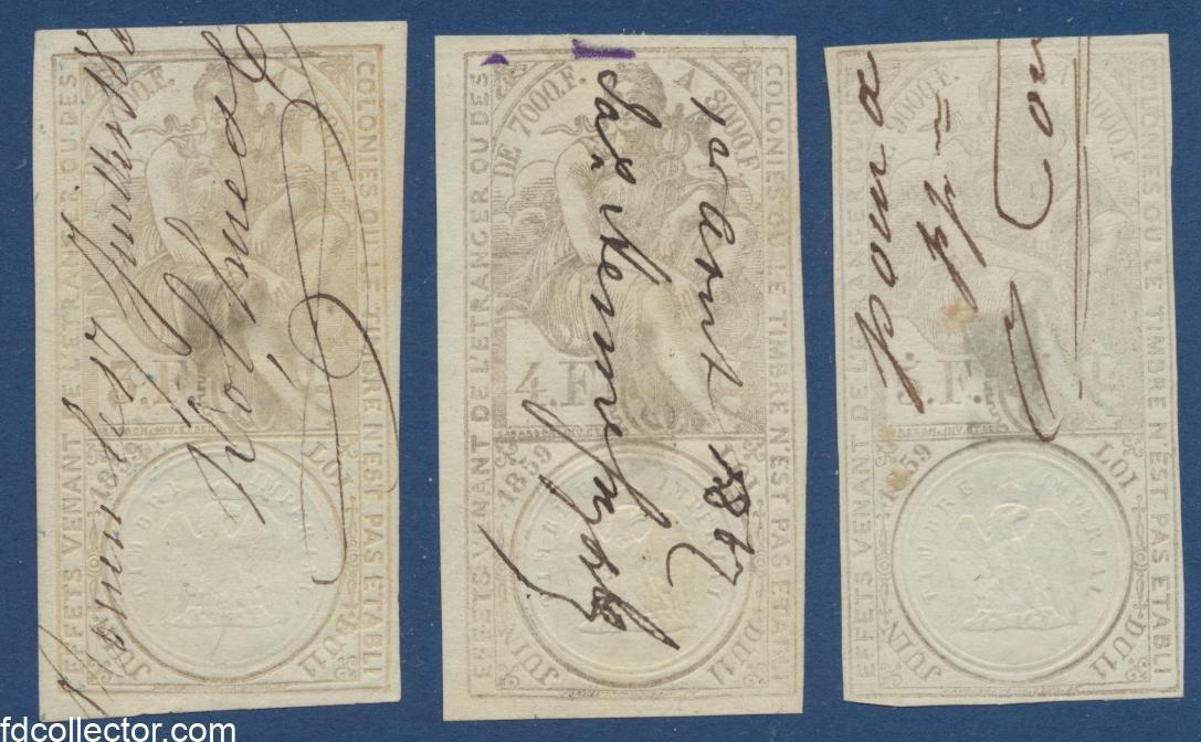timbres-fiscaux-lot-effets-commerce-3-4-5-francs-1860