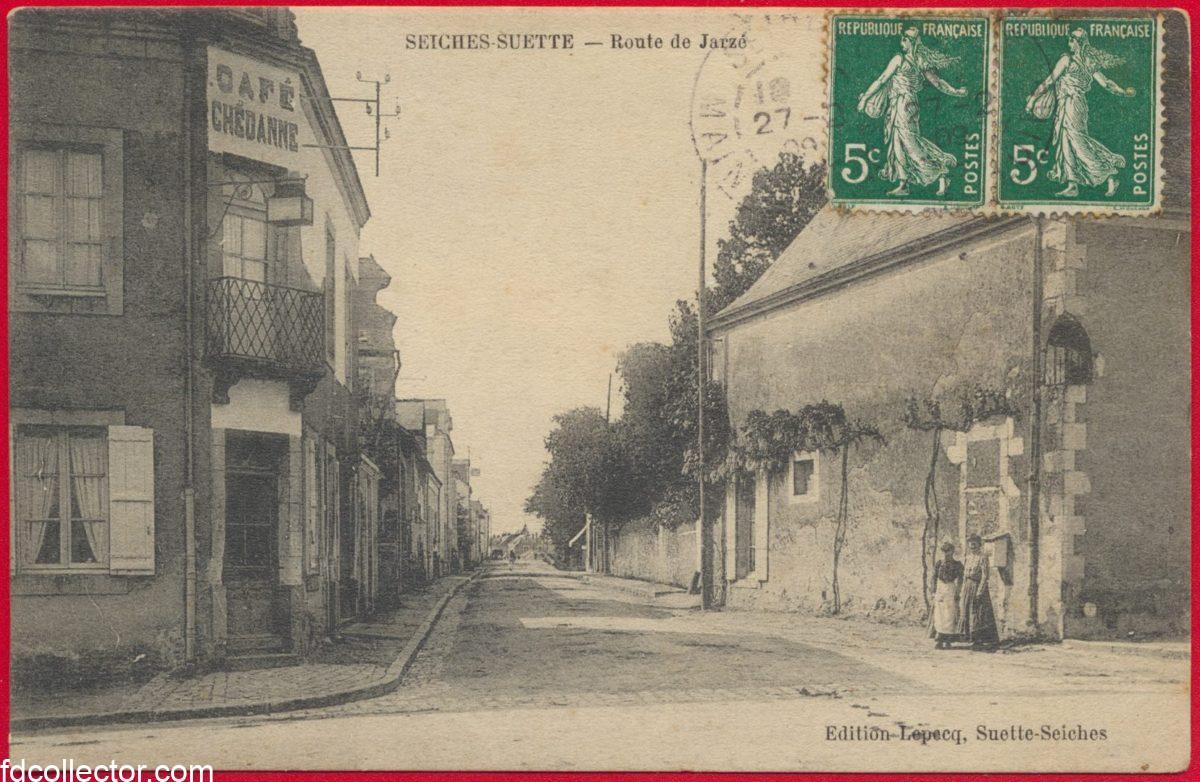 cpa-seiches-suette-route-jarze