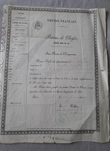 permis-chasse-napoleon-iii-1867-ruffec-1