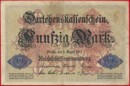 allemagne-50-funfzig-mark-5-august-1914-8875