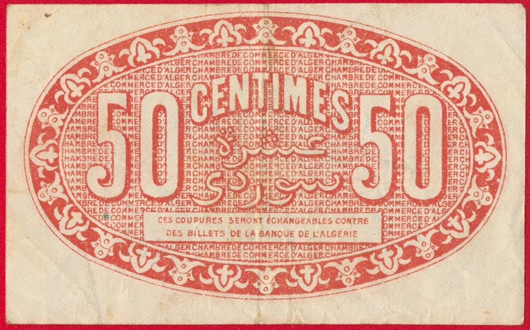 Algerie 50 centimes chambre de commerce d 39 alger 1921 for Chambre de commerce martinique