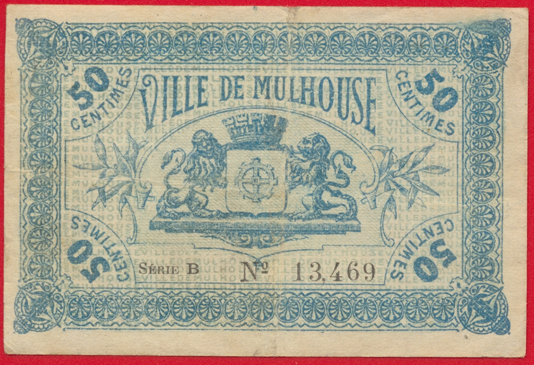 mulhouse 50 centimes 1918 fdcollector. Black Bedroom Furniture Sets. Home Design Ideas
