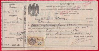 fiscaux-facture-assurance-vie-aigle-25-centimes