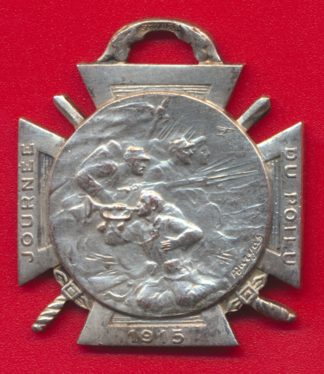 medaille-journee-poilu-1915-bronze-argente-25-26-decembre
