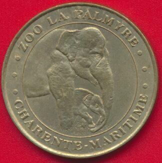 medaille-souvenir-monnaie-zoo-palmyre-elephant-2000