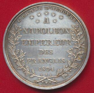 medaille-armee-hanovre-napoleon-empereur-francais-1804-mines-usines-harz-guerre
