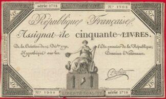 assigant-50-livres-1792-1908-signe-dufour