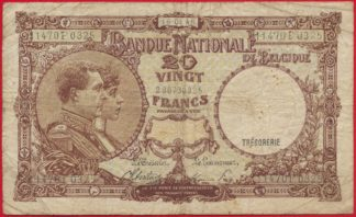 belgique-20-francs-16-8-45-0325-vs