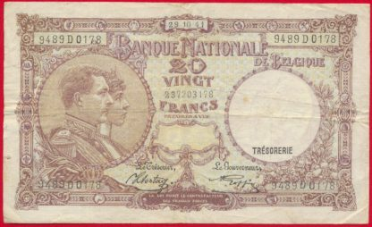 belgique-vingt-francs-29-10-1941-0178