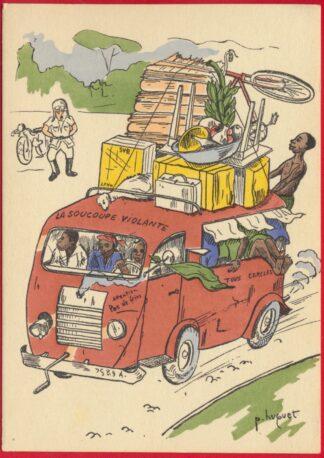 cpa-satirique-huguet-soucoupe-volante-illustrateur