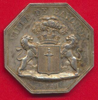 medaille-jeton-argent-compagnie-eclairage-gaz-bayonne-1849-vs