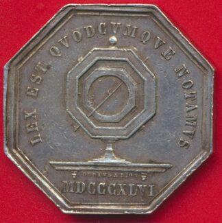medaille-jeton-argent-notaires-saint-etienne-1846