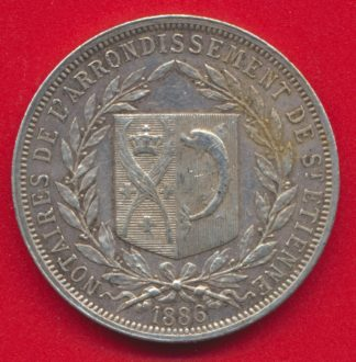 medaille-jeton-argent-notaires-saint-etienne-1886-vs