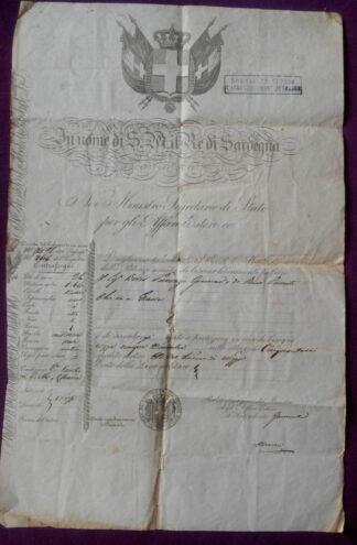 italie-sardaigne-passeport-re-di-sardegna-1850