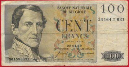belgique-100-francs-22-4-1959-3631