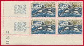 bloc-coin-date-taaf-ile-crozet-orque-15-francs-21-10-1969