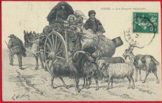 cpa-corse-bergers-emigrants