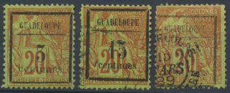 guadeloupe-3-15-25-centimes-surcharge-colonies
