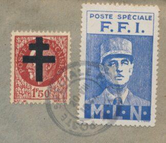 poste-speciale-ffi-petain-croix-lorraine-degaule-1944-timbres