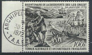 taaf-poste-aerienne-100-francs-bicentenaire-decouverte-iles-crozet