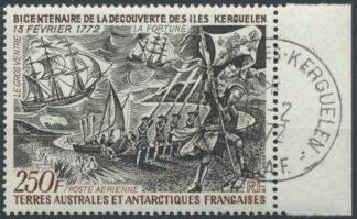 taaf-poste-aerienne-250-francs-bicentenaire-decouverte-iles-kerguelen
