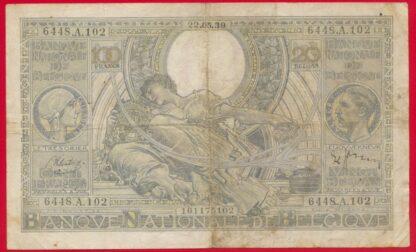 belgique-100-francs-20-belgas-22-5-1939