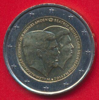 2-euro-pays-bas-2014-willem-alexander-beatrix-princess-koninger-nederlanden