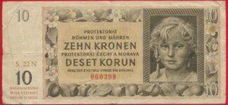 boheme-moravie-1942-10-sehn-deset-kronen-korun-0399