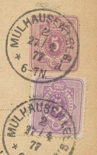 entier-postal-allemagne-1877-2x5pfennig-vs