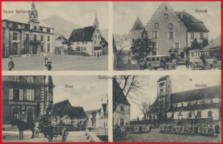cpa-sulzmatt-els-4-vues-scloss-rathaus-post-kirche