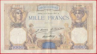 1000-francs-ceres-mercure-21-octobre-1927