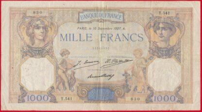 1000-mille-francs-ceres-mercure-16-septembre-1927-830