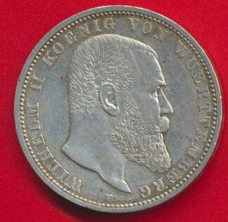 allemagne-wurtemberg-5-mark-1898wilhelm-ii
