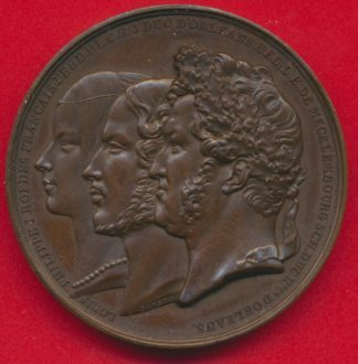 medaille-mariage-duc-orleans-departement-rhone-louis-philippe-mecklembourg-swerin-1837