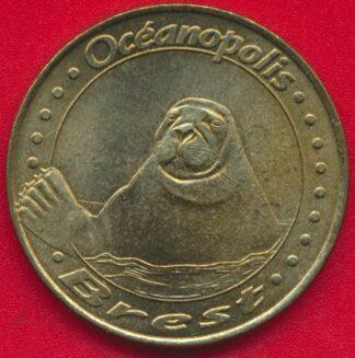 medaille-monnaie-paris-2002-brest-oceanopolis-phoque