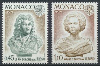 monaco-1franc-10-madame-elisabeth-roi-rome-1974