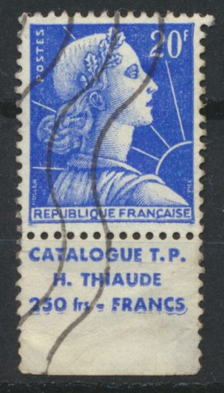 timbre-bande-publicitaire-20-francs-catalogues-thiaude-250-francs