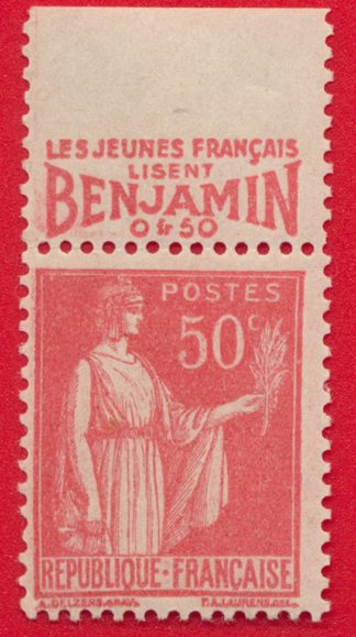timbre-bande-publicitaire-benjamin-type-paix-50-centimes