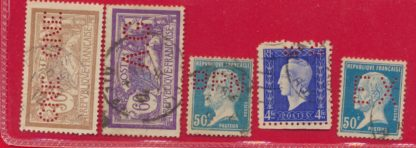 timbres-perfores-lot-8