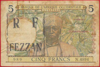 banque-etats-afrique-occidentale-fezzan-cinq-5-francs-10-3-1938-7989