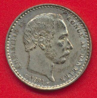 danemark-25-ore-1891-christian-ix