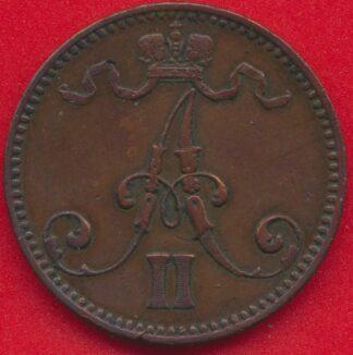 finlande-5-pennia-1866-vs