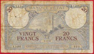 maroc-20-francs-11-1942-1486